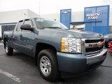 2008 Blue Granite Metallic Chevrolet Silverado 1500 LS Extended Cab 4x4 #52396058