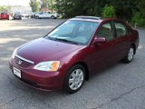 2002 Radiant Ruby Red Pearl Honda Civic EX Sedan #52396316