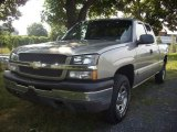 2003 Light Pewter Metallic Chevrolet Silverado 1500 LS Extended Cab 4x4 #52396086