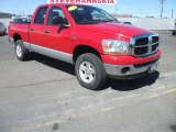 2006 Flame Red Dodge Ram 1500 SLT Quad Cab 4x4 #52395977