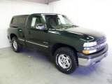 2002 Forest Green Metallic Chevrolet Silverado 1500 LS Regular Cab 4x4 #52396263
