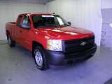 2008 Victory Red Chevrolet Silverado 1500 Work Truck Extended Cab #52396265