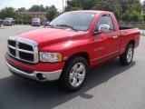 2004 Flame Red Dodge Ram 1500 SLT Regular Cab #52454230