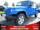 2011 Cosmos Blue Jeep Wrangler Unlimited Sahara 4x4 #52453456