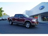 2006 Dark Toreador Red Metallic Ford F150 Lariat SuperCrew 4x4 #52453481