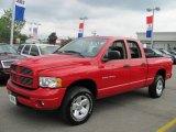 2003 Flame Red Dodge Ram 1500 SLT Quad Cab 4x4 #52454286