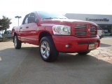 2007 Flame Red Dodge Ram 1500 Sport Quad Cab 4x4 #52454038