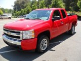 2008 Victory Red Chevrolet Silverado 1500 LS Extended Cab #52454074