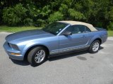 2007 Windveil Blue Metallic Ford Mustang V6 Deluxe Convertible #52454091