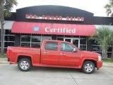 2008 Victory Red Chevrolet Silverado 1500 LT Crew Cab #52453294