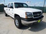 2003 Summit White Chevrolet Silverado 1500 LS Crew Cab 4x4 #52453586