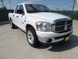 2008 Bright White Dodge Ram 1500 Lone Star Edition Quad Cab #52453594