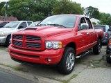 2004 Flame Red Dodge Ram 1500 SLT Quad Cab 4x4 #52547856