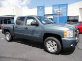 2011 Blue Granite Metallic Chevrolet Silverado 1500 LT Crew Cab 4x4 #52547453