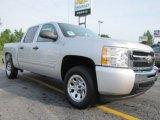 2011 Sheer Silver Metallic Chevrolet Silverado 1500 LS Crew Cab #52598466