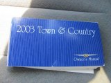 2003 Chrysler Town & Country LXi Books/Manuals