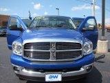 2007 Electric Blue Pearl Dodge Ram 1500 SLT Quad Cab 4x4 #52598675