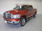 2008 Sunburst Orange Pearl Dodge Ram 1500 Big Horn Edition Quad Cab 4x4 #52598026