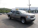 2008 Graystone Metallic Chevrolet Silverado 1500 LS Crew Cab 4x4 #52598890