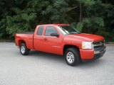 2009 Victory Red Chevrolet Silverado 1500 LS Extended Cab #52598895