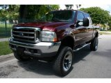 2004 Dark Toreador Red Metallic Ford F250 Super Duty Lariat Crew Cab 4x4 #52598417