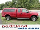 2003 Red Clearcoat Ford F250 Super Duty XLT SuperCab 4x4 #52598264