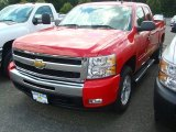 2011 Victory Red Chevrolet Silverado 1500 LT Extended Cab 4x4 #52658517