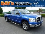 2007 Electric Blue Pearl Dodge Ram 1500 SLT Quad Cab 4x4 #52679368