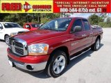 2006 Inferno Red Crystal Pearl Dodge Ram 1500 SLT Quad Cab #52679335