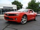 2010 Inferno Orange Metallic Chevrolet Camaro LT Coupe #52687801