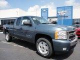 2011 Blue Granite Metallic Chevrolet Silverado 1500 LT Extended Cab 4x4 #52687905