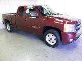 2008 Deep Ruby Metallic Chevrolet Silverado 1500 Z71 Extended Cab #52688147