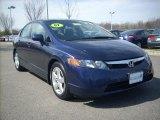 2007 Royal Blue Pearl Honda Civic EX Sedan #5246000