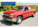 2004 Victory Red Chevrolet Silverado 1500 LS Extended Cab 4x4 #52724282