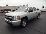 2011 Sheer Silver Metallic Chevrolet Silverado 1500 LS Crew Cab #52725102