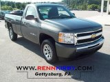 2011 Steel Green Metallic Chevrolet Silverado 1500 LS Regular Cab #52725138