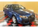 2008 Ocean Blue Pearl Effect Audi A4 2.0T quattro S-Line Sedan #52725156