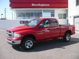 2004 Flame Red Dodge Ram 1500 SLT Quad Cab 4x4 #5248544