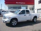 2008 Bright White Dodge Ram 1500 Big Horn Edition Quad Cab 4x4 #5248542