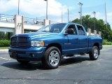 2003 Atlantic Blue Pearl Dodge Ram 1500 SLT Quad Cab 4x4 #52725224