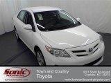 2011 Super White Toyota Corolla LE #52725253