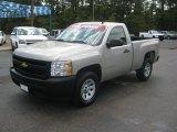 2008 Silver Birch Metallic Chevrolet Silverado 1500 Work Truck Regular Cab 4x4 #52809326