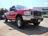 2004 Red Ford F250 Super Duty XLT SuperCab 4x4 #52809095