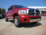 2006 Inferno Red Crystal Pearl Dodge Ram 1500 Laramie Quad Cab 4x4 #52809107