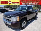 2009 Dark Cherry Red Metallic Chevrolet Silverado 1500 LS Regular Cab 4x4 #52817997