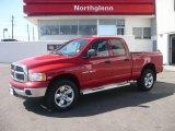 2005 Flame Red Dodge Ram 1500 SLT Quad Cab 4x4 #5248548
