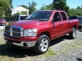 2008 Inferno Red Crystal Pearl Dodge Ram 1500 Big Horn Edition Quad Cab 4x4 #52818007