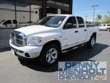 2008 Bright White Dodge Ram 1500 Big Horn Edition Quad Cab 4x4 #52809145