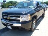 2010 Black Chevrolet Silverado 1500 LS Extended Cab 4x4 #52817097