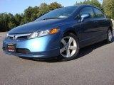 2007 Atomic Blue Metallic Honda Civic EX Sedan #52817112